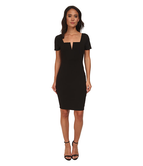 Brigitte Bailey - Tara Cap Sleeve Dress (Black) Women's Dress