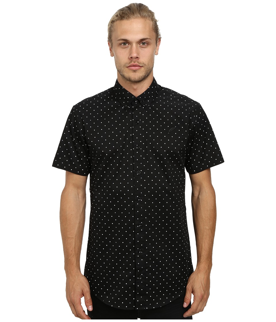 Publish - Clint Button Up (Black 3M) Men's Short Sleeve Button Up
