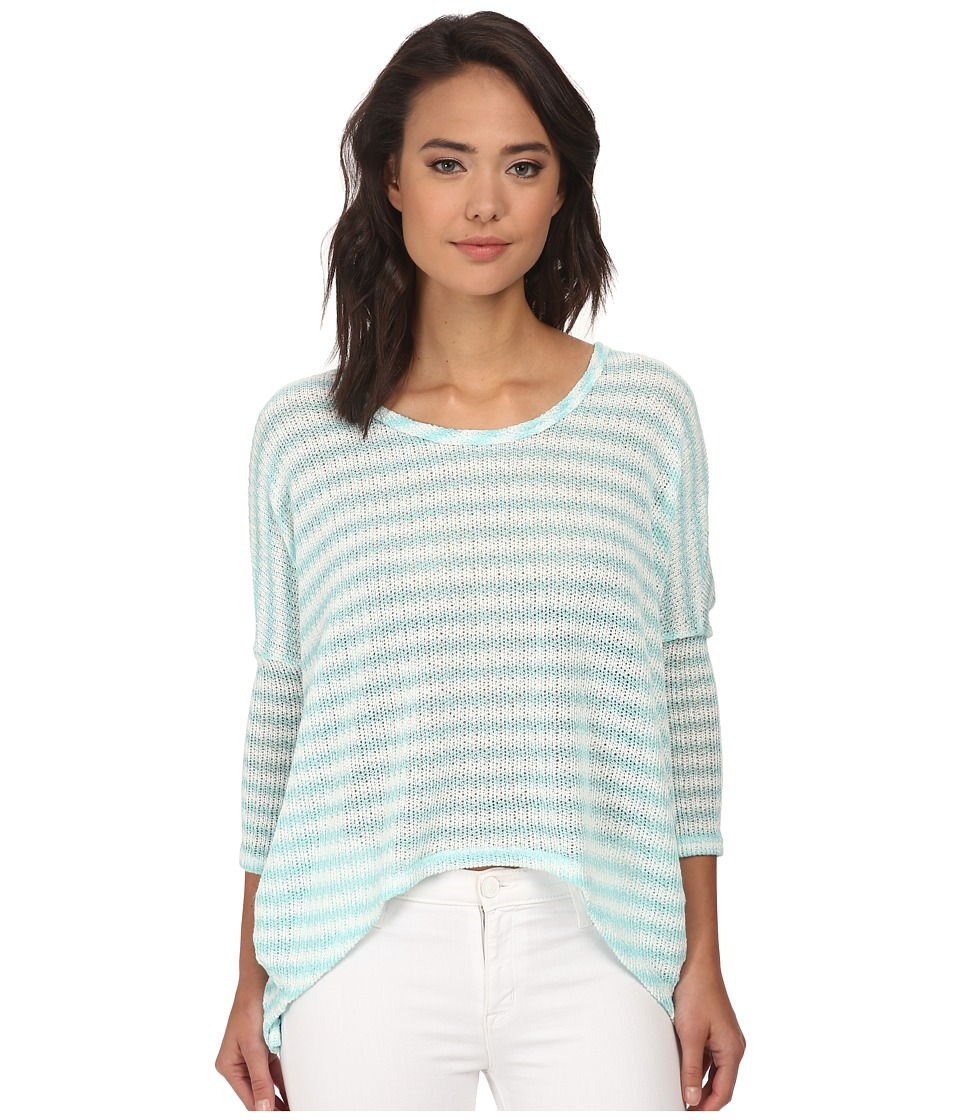Brigitte Bailey - Jaylynn Stripe Button Back Sweater (Mint) Women's Sweater