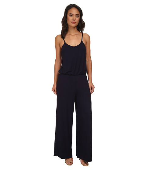 Brigitte Bailey - Cherie Spaghetti Strap Jumper (Navy) Women's Jumpsuit & Rompers One Piece