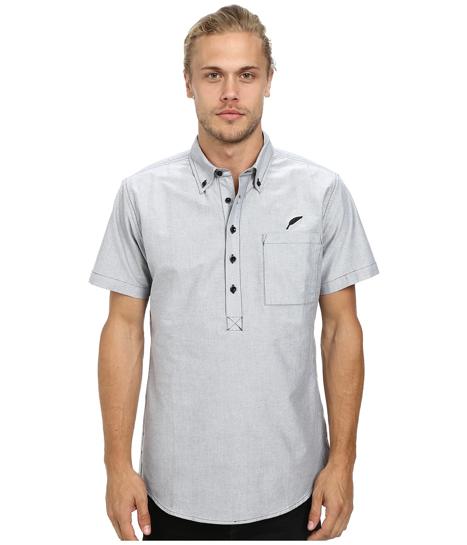 Publish - Theodore Button Up (Black) Men's Short Sleeve Button Up