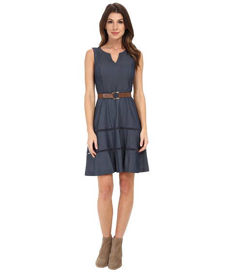 Nine West - Fit and Flare Dress (Denim) Women