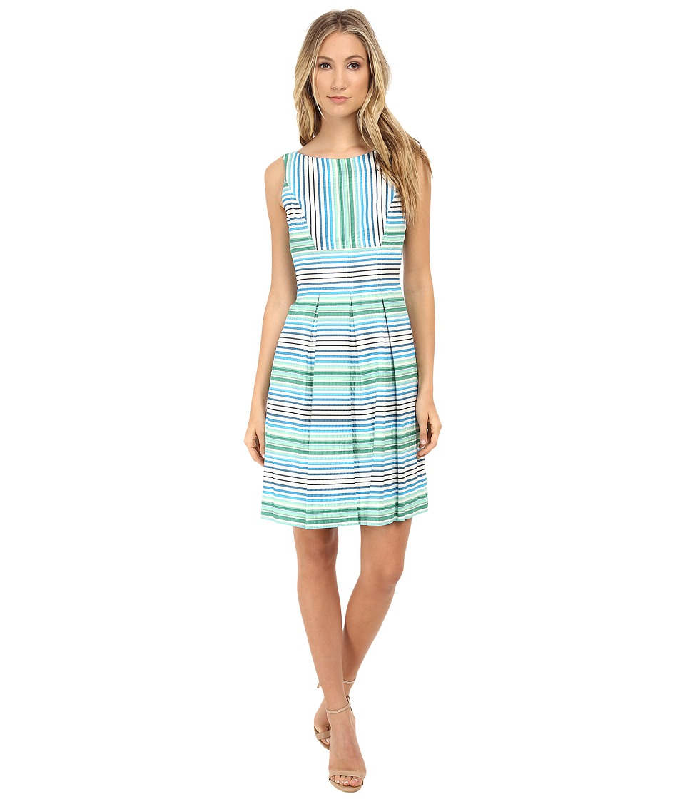 Nine West - Fit and Flare Dress (Coastal Green) Women's Dress