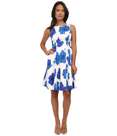 Nine West - Fit and Flare Dress (Bright Surf) Women's Dress