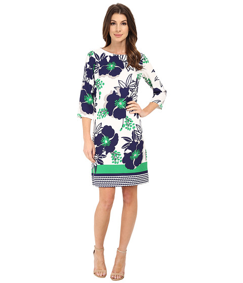 Nine West - Scuba Dress (Coastal Green) Women