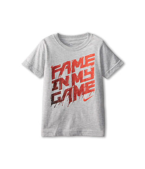 Nike Kids - Fame In My Game Short Sleeve Tee (Little Kids) (Grey Heather) Boy