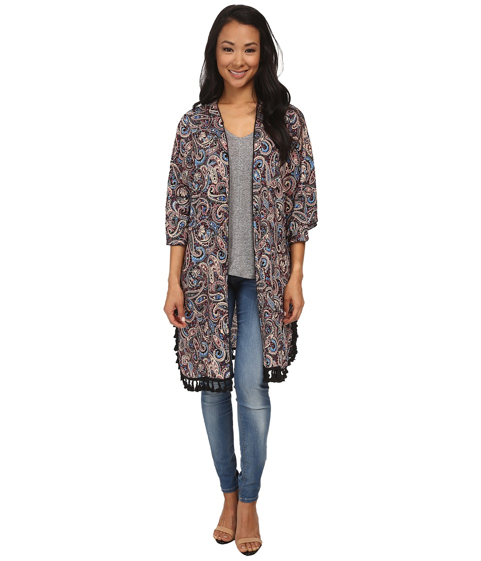 Gabriella Rocha - Tracy Print Kimono (Purple Multi) Women's Clothing