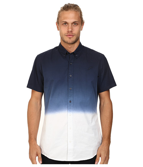 Publish - Omer Button Up (Navy) Men's Short Sleeve Button Up