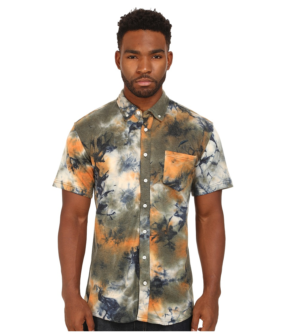 Publish - Churchill Button Up (Orange) Men's Short Sleeve Button Up