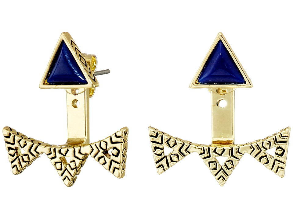 House of Harlow 1960 - Cerro Torre Ear Jacket (Lapis) Earring