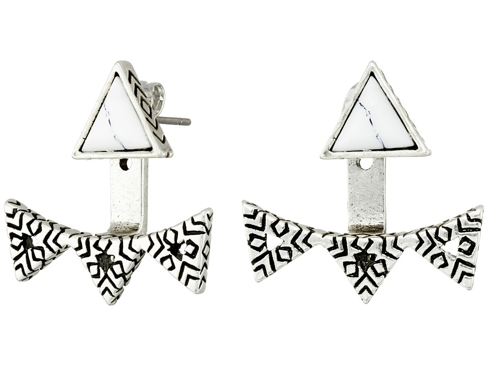 House of Harlow 1960 - Cerro Torre Ear Jacket (Howlite) Earring