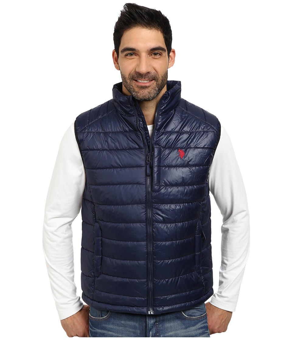 U.S. POLO ASSN. - Small Channel Quilt Puffer Vest (Classic Navy) Men