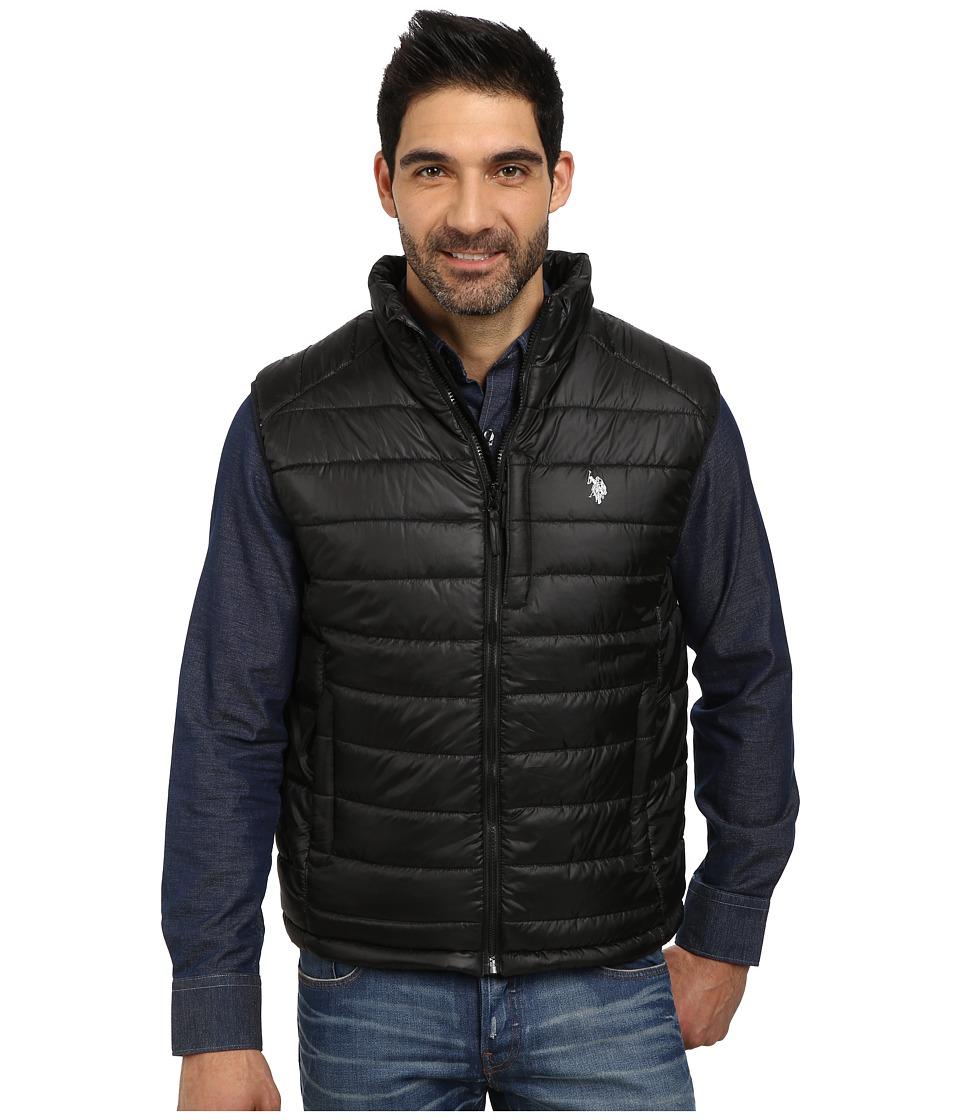 U.S. POLO ASSN. - Small Channel Quilt Puffer Vest (Black) Men's Vest