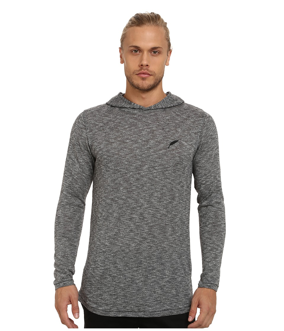 Publish - Regan Mock Twist Long Sleeve Hoodie (Grey) Men's Sweatshirt