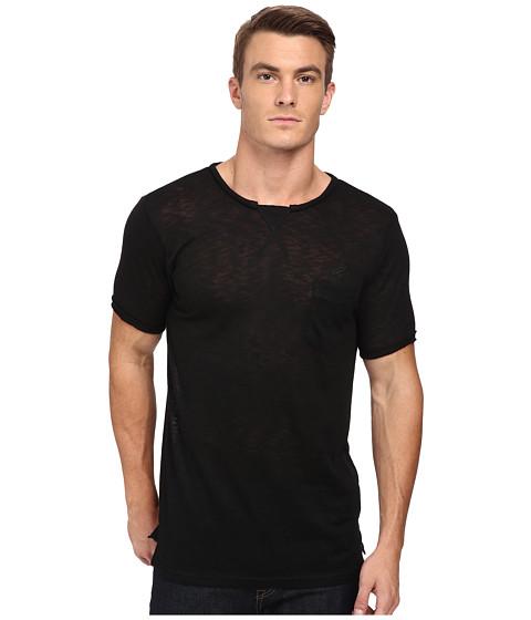 Publish - Roman Rip and Repaired Slub Short Sleeve Jersey Tee (Black) Men