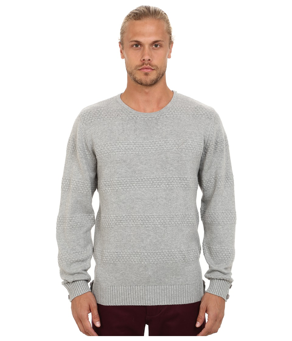 Publish - Neil 6 Gauge Knitted Crew Neck Sweater (Grey) Men's Sweater