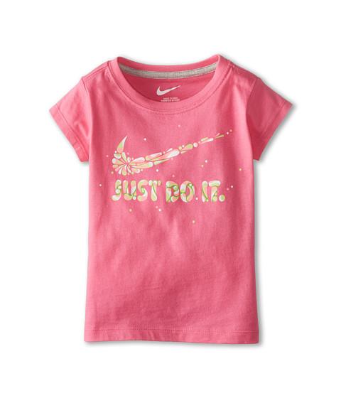 Nike Kids - Swoosh Just Do It Explode Short Sleeve Tee (Toddler) (Pinksicle) Girl