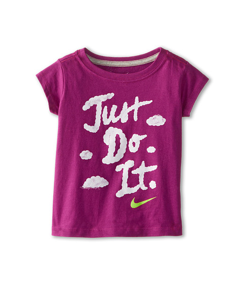 Nike Kids - Just Do It Skywriting Short Sleeve Tee (Toddler) (Dark Fuchsia Flash) Girl