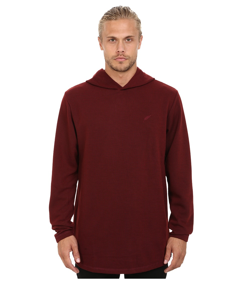 Publish - Tino Thermal Long Sleeve Knit with Hood (Maroon) Men's Clothing