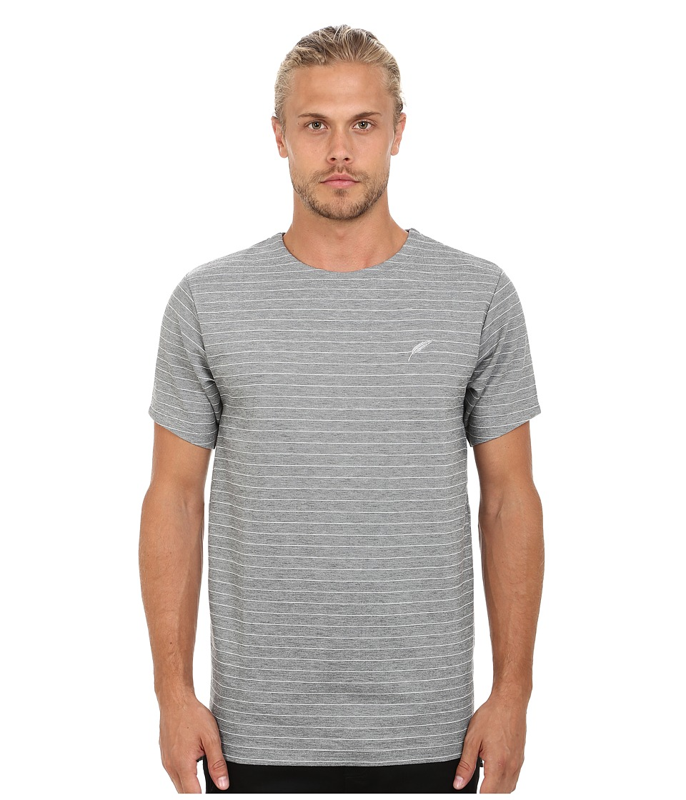 Publish - Crane Striped Short Sleeve Knit (Grey) Men