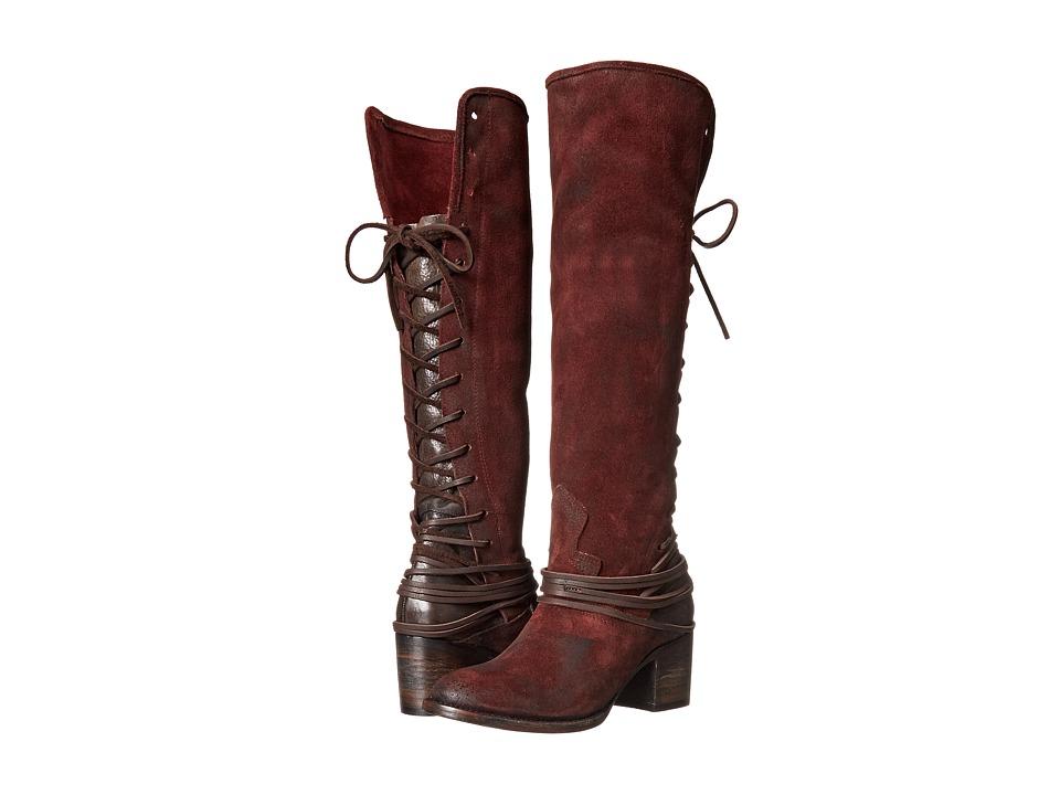 Freebird Coal (Wine Suede) Cowboy Boots