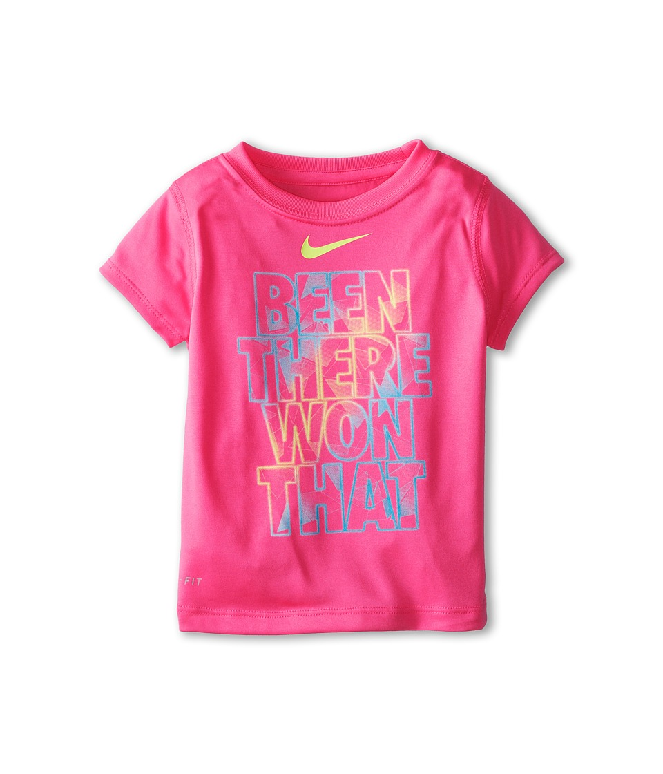 Nike Kids - Lightweight Dri-Fit GFX Short Sleeve Top Been There Won That (Toddler) (Pink Pow) Girl