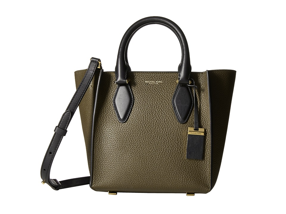 Michael Kors - Gracie Small Tote Grained French Calf (Olive/Black) Tote Handbags