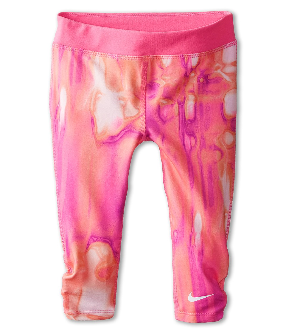 Nike Kids - Dri-Fit Sports Essentials GFX Capris (Little Kids) (Pink Pow) Girl's Capri