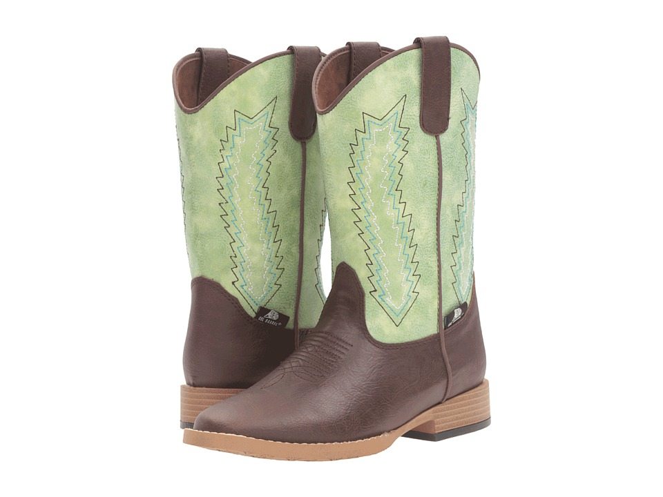 M&F Western - Wyatt (Little Kid) (Brown/Green) Cowboy Boots