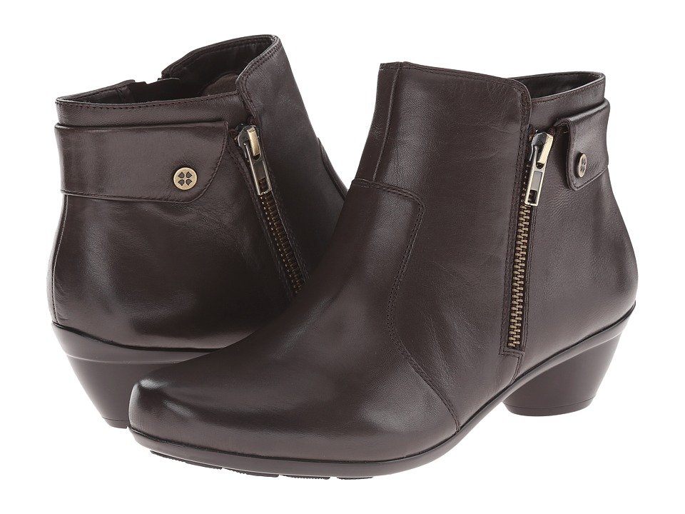Naturalizer - Haley (Oxford Brown Leather) Women's Zip Boots