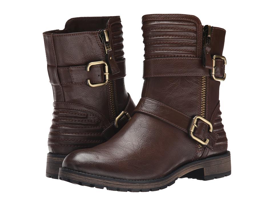 Naturalizer - Tandie (Brown Smooth) Women's Zip Boots