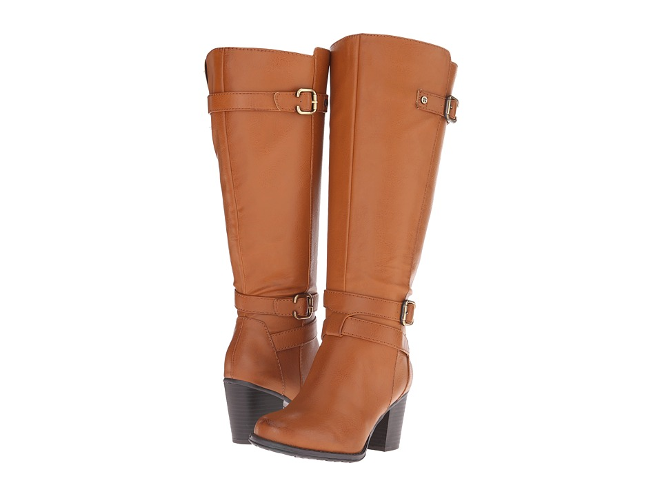 Naturalizer - Tricia Wide Calf (Camel Wide Calf Smooth) Women's Zip Boots plus size,  plus size fashion plus size appare