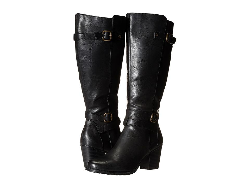 Naturalizer - Tricia Wide Calf (Black Wide Calf Smooth) Women's Zip Boots