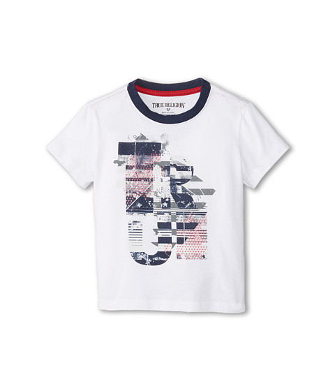 True Religion Kids - July 4th Tee (Toddler) (White) Boy's T Shirt