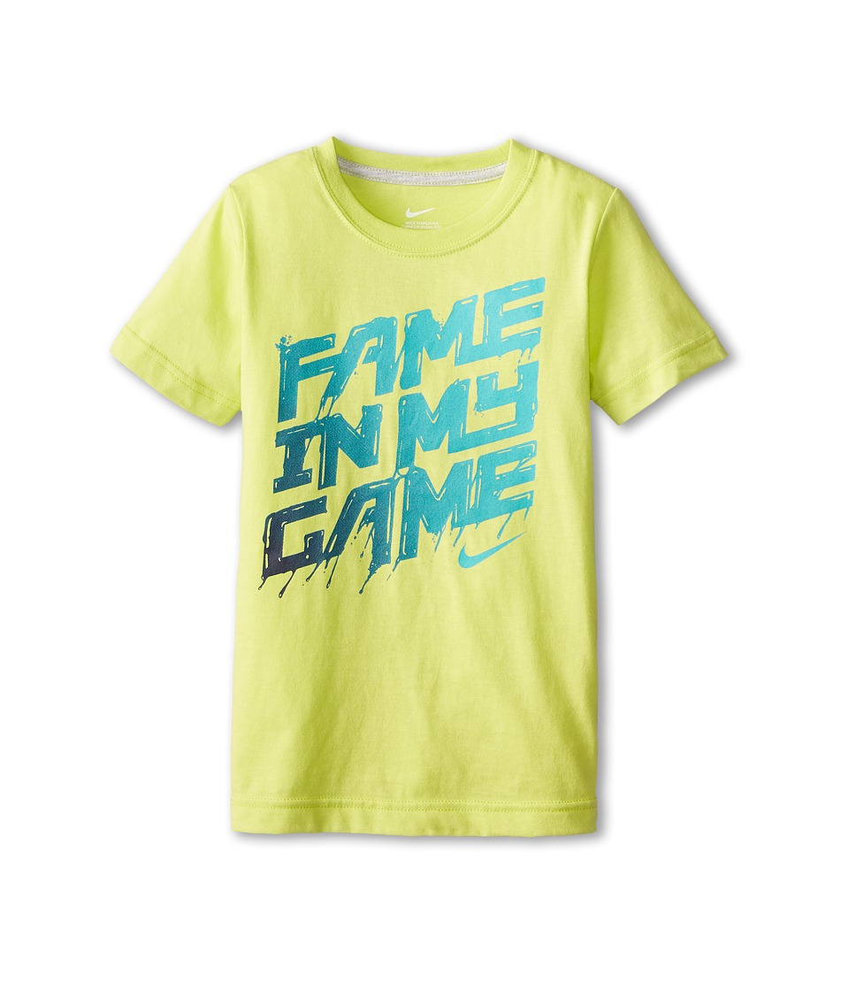 Nike Kids - Fame In My Game Short Sleeve Tee (Little Kids) (Cyber) Boy's T Shirt
