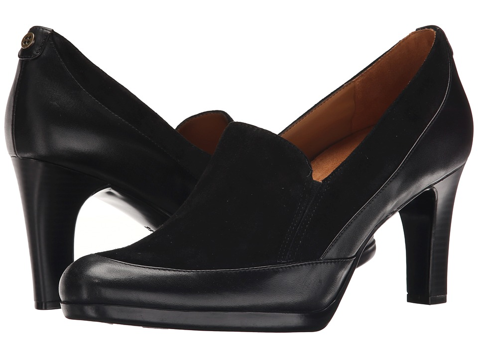 Naturalizer - Angie (Black Leather/Suede) High Heels
