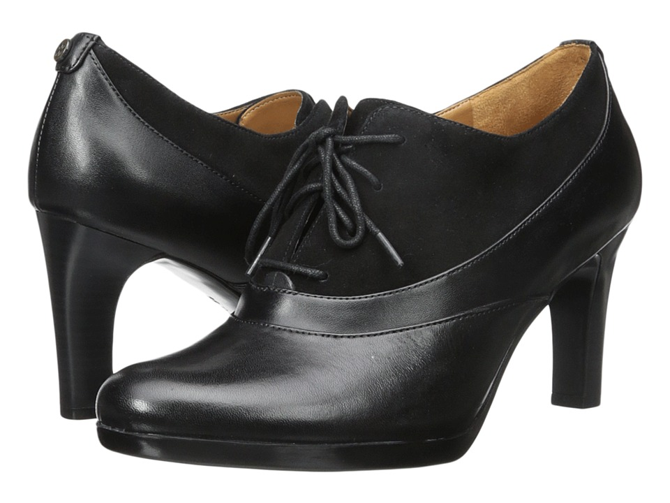 Naturalizer - Audrey (Black Suede/Leather) High Heels