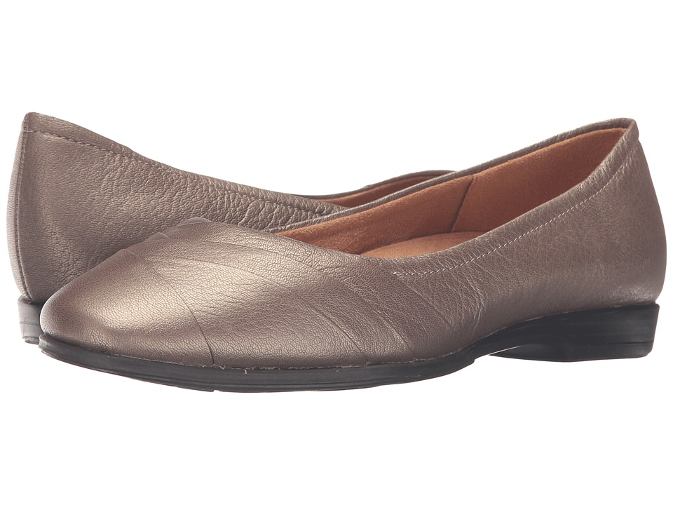 Naturalizer - Jaye (Nickel Alloy Metallic Leather) Women's Flat Shoes