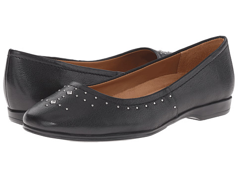 Naturalizer - Joana (Black Leather) Women's Flat Shoes