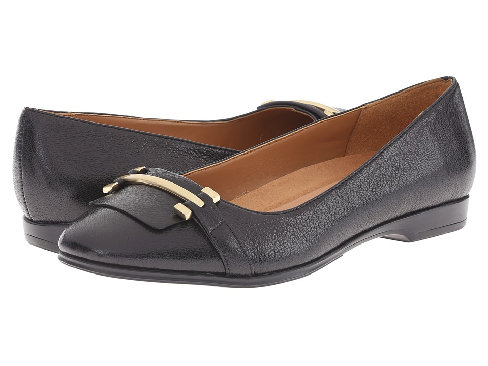 Naturalizer - Joyce (Black Leather) Women's Flat Shoes