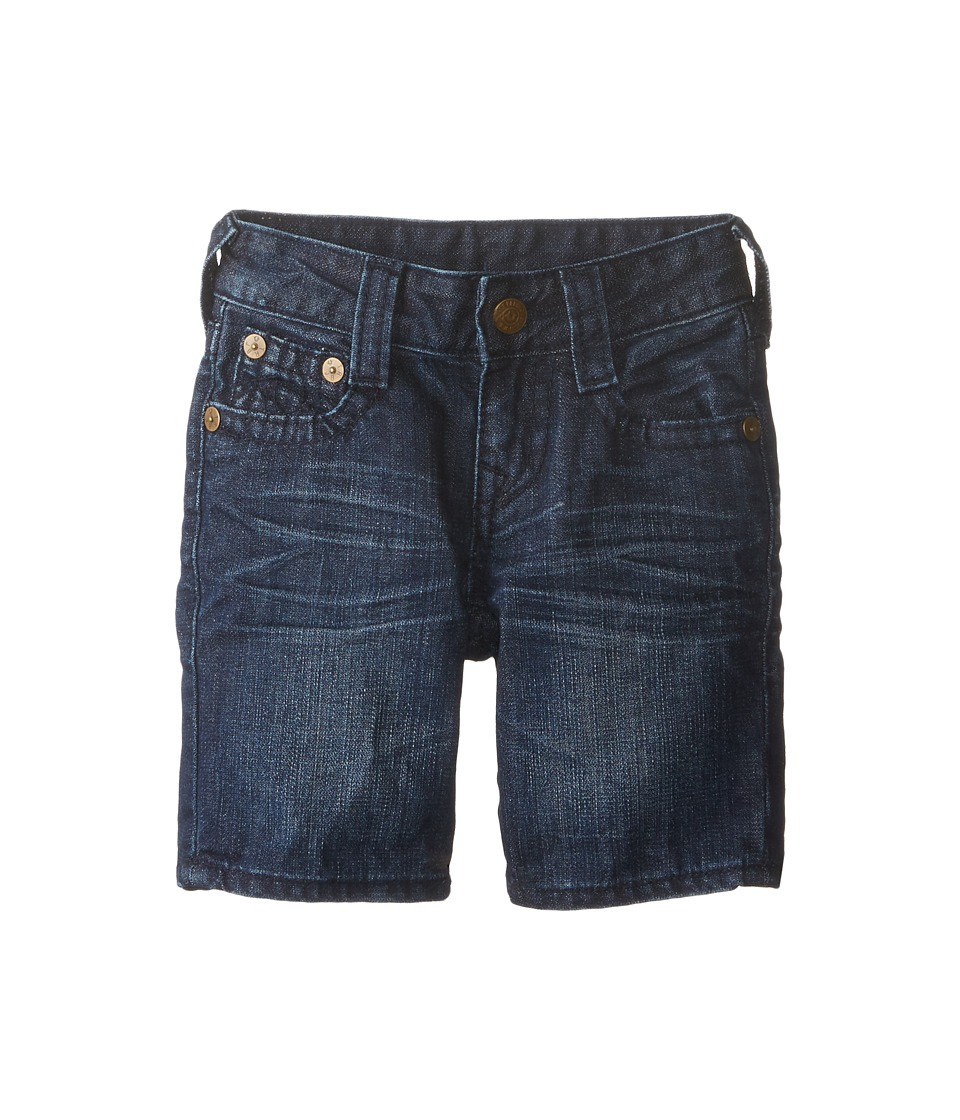 True Religion Kids - Single End Shorts (Little Kids) (Harley Wash) Boy
