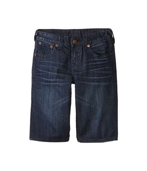True Religion Kids - Single End Shorts (Big Kids) (Harley Wash) Boy