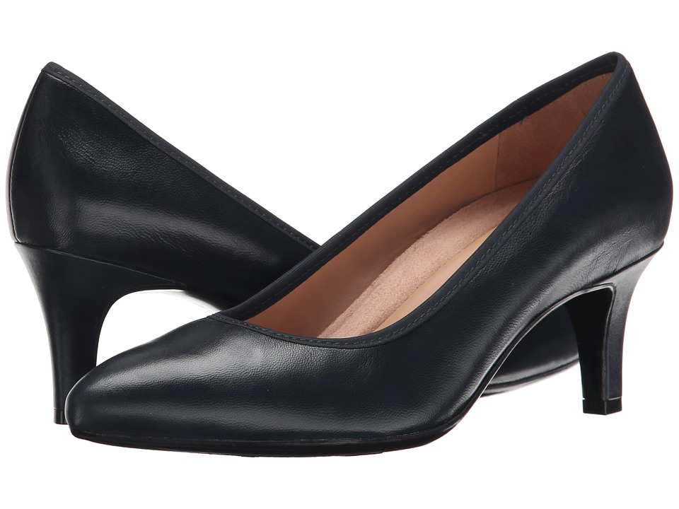 Naturalizer - Oath (Classic Navy Leather) High Heels