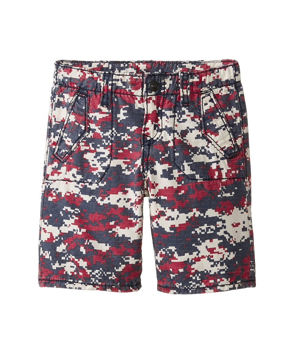 True Religion Kids - Blocked Camo Shorts (Little Kids) (Blue Print) Boy's Shorts