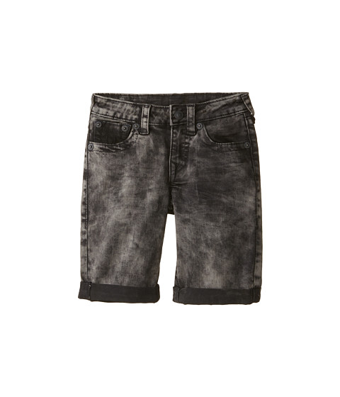 True Religion Kids - Roll Up Shorts (Little Kids) (Charcoal/Black) Boy's Shorts