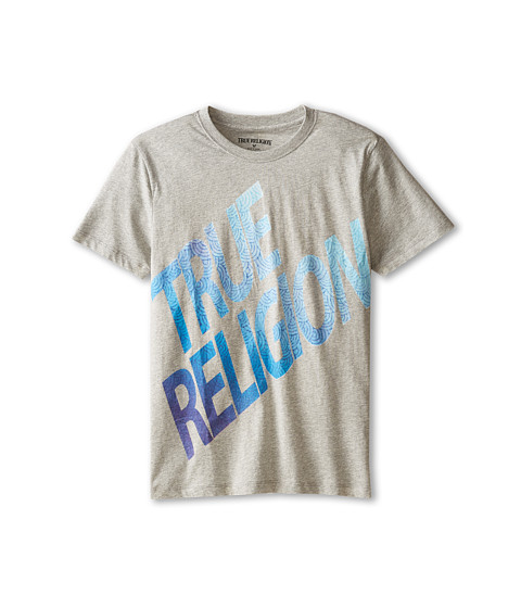 True Religion Kids - Retro Tee (Big Kids) (Heather Grey) Boy