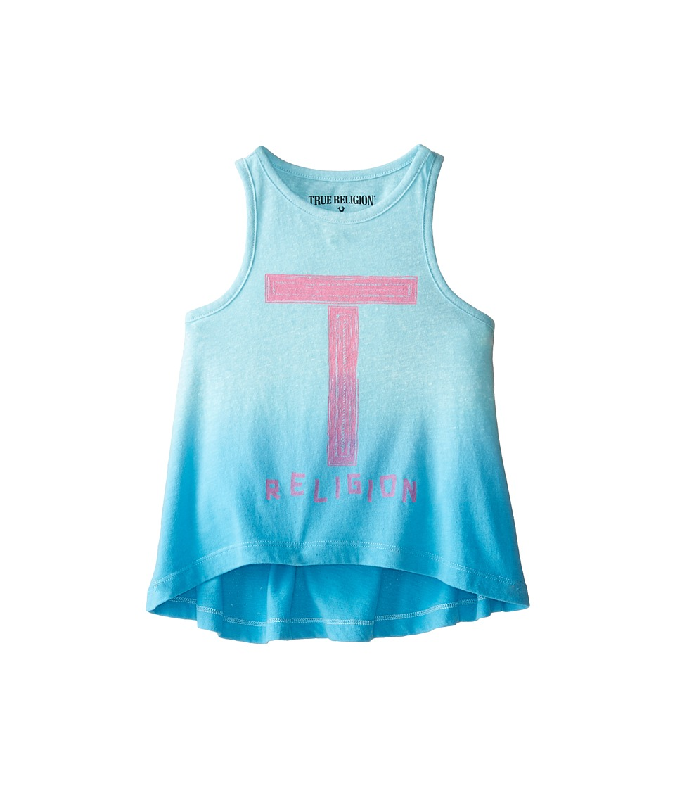 True Religion Kids - Ombre Tank Top (Toddler) (Turquoise) Girl's Sleeveless