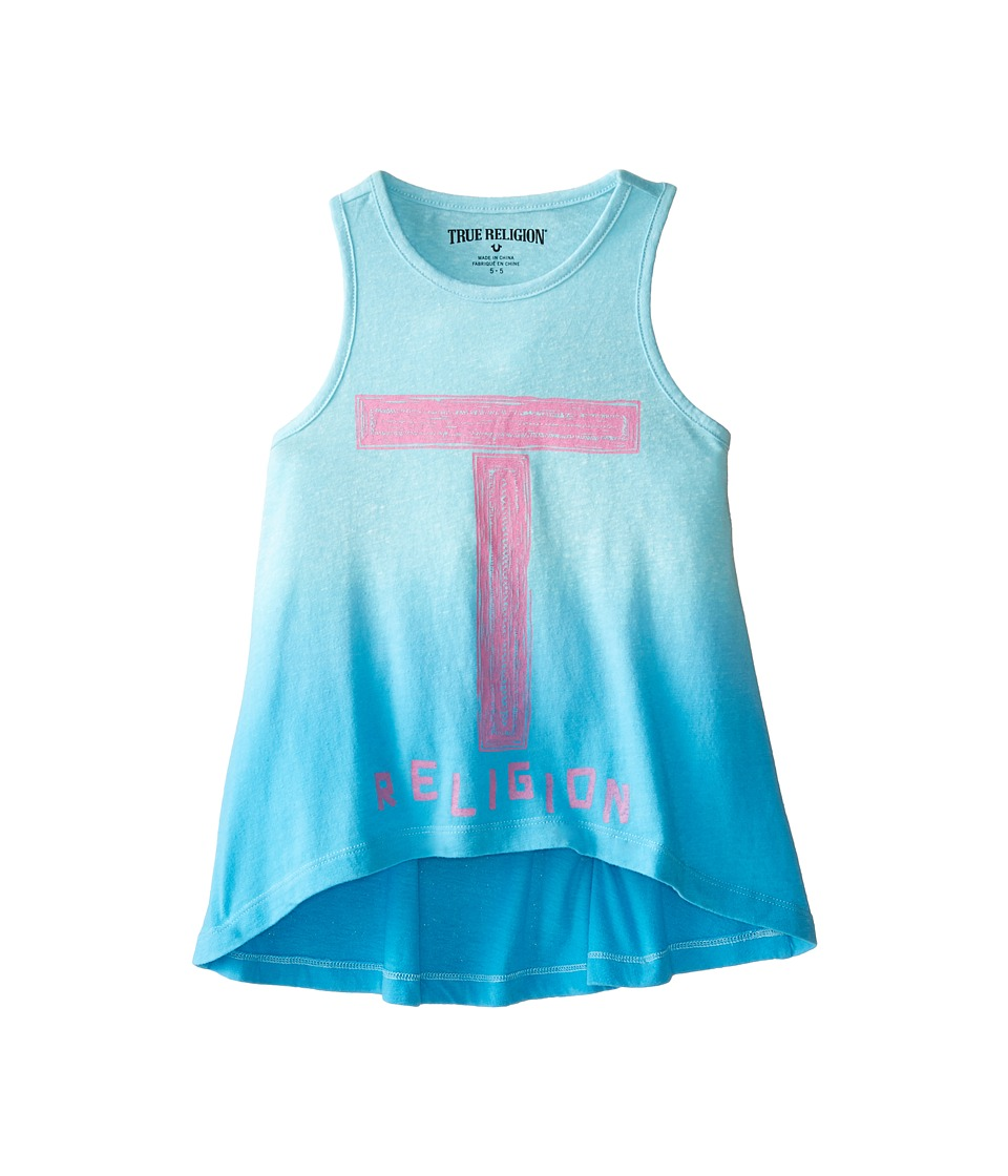 True Religion Kids - Ombre Tank Top (Little Kids) (Turquoise) Girl's Sleeveless