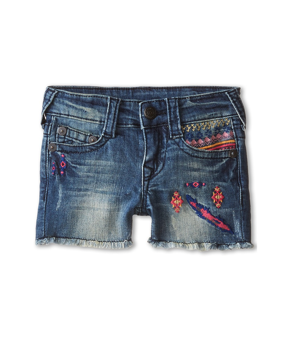 True Religion Kids - Joey Shorts (Toddler) (Treasure Indigo) Girl