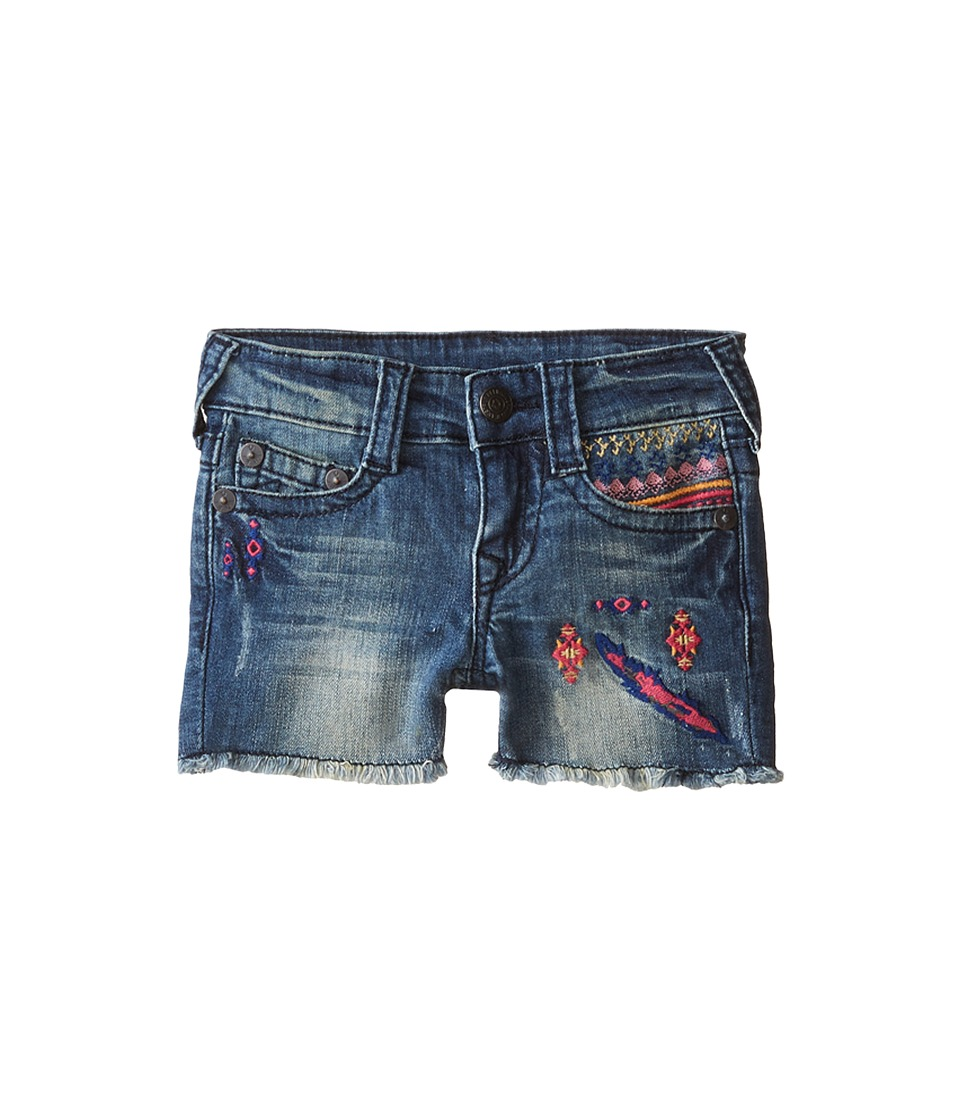 True Religion Kids - Joey Shorts (Little Kids) (Treasure Indigo) Girl